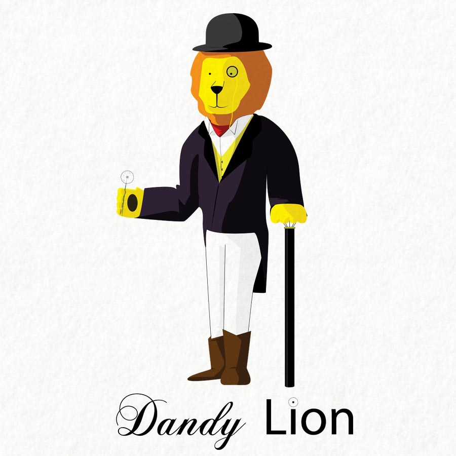 Dandy Lion Illustration